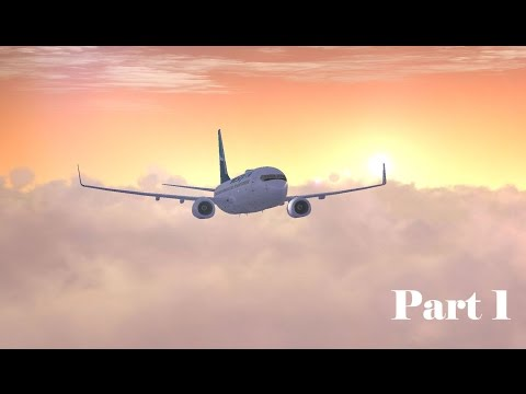 Flight simulator PMDG 737: Seattle to Calgary Part 1