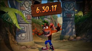 Crash Bandicoot N  Sane Trilogy Release Date Announced!!!