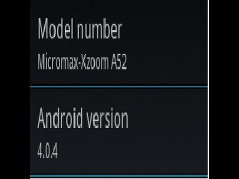 [HOW TO] ICS On Micromax A52. A45 & A50  Trick