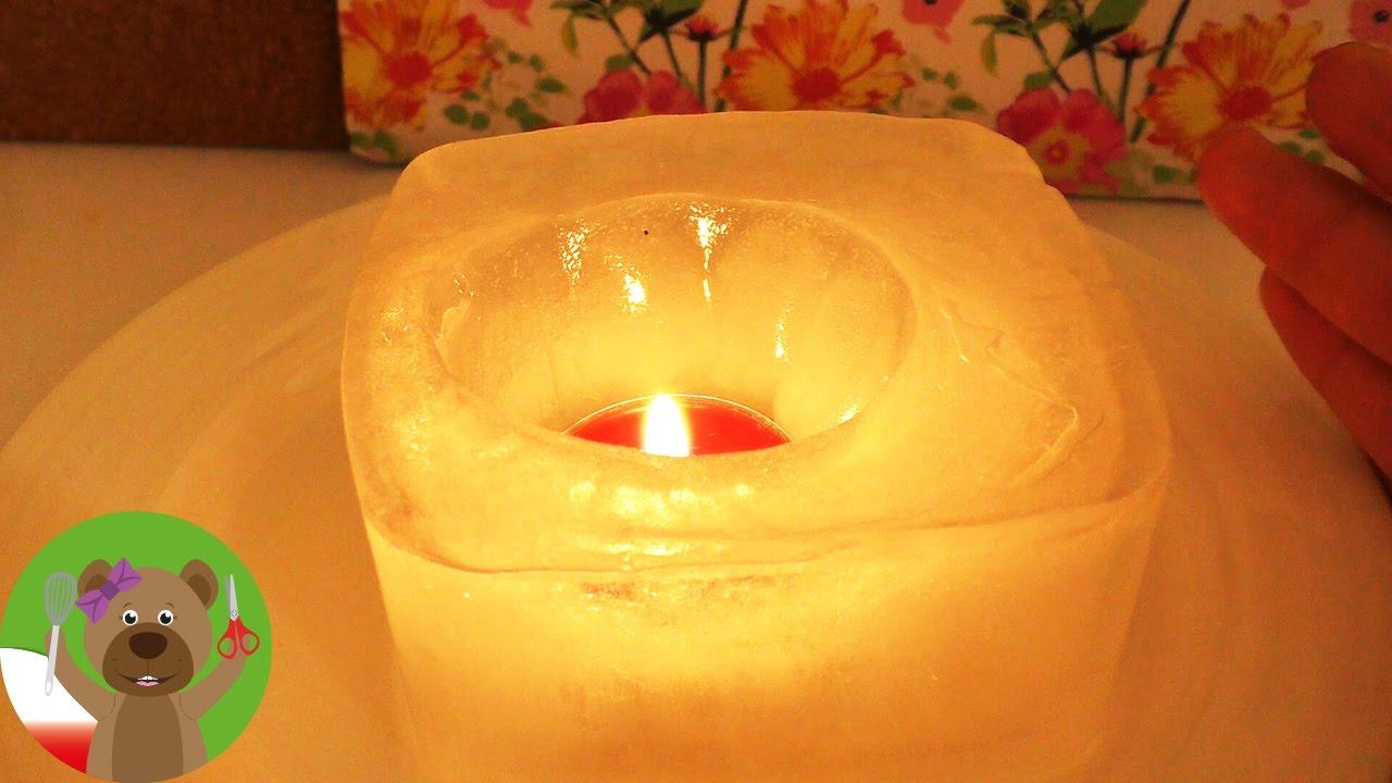 DIY Inspiration wyzwanie #87 | robimy foremki | ogrodowy świecznik z lodu