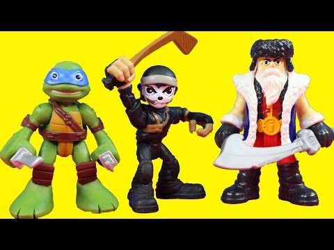 Teenage Mutant Ninja Turtles TMNT Half Shell Heroes Battle Imaginext Warriors To Save Casey Jones