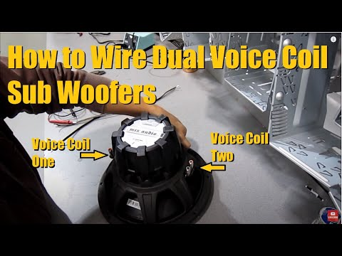 How to wire up a Dual Voice Coil (DVC) Sub Woofer   Series & Parallel