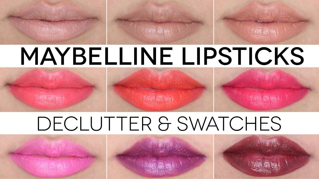 Maybelline Plum Lipstick Swatches Maybelline Lipstick Swatches