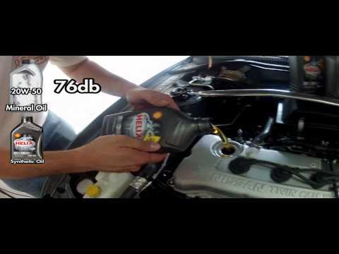 Regular 20w 50 Vs Synthetic 5w40 Nissan Sentra Engine Sound Test Shell ...