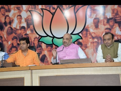 Press Conference by Shri Amit Shah on 1 year of PM Shri Narendra Modi led NDA Government at BJP HQ