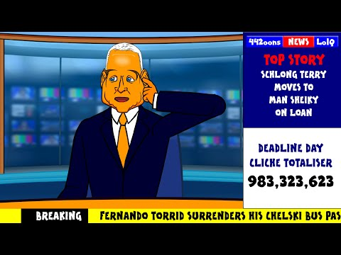 TRANSFER DEADLINE DAY 2014 JIM WHITE PARODY by 442oons (Sky Sports cartoon)