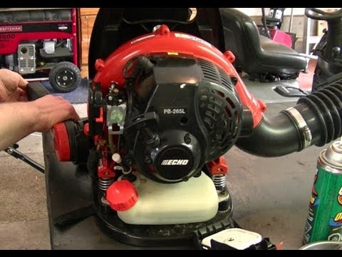 Carburetor Repair On Echo PB265L Back Pack Leaf Blower