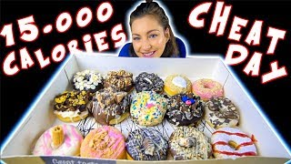 GIRL EATS 15.000+ CALORIES IN A DAY | INSANE CHEATDAY