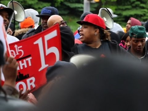 Wage Protest at McDonald's Shareholders Meeting