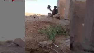 #ISIS sniper has young Iraqi soldier pinned.......watch what happens