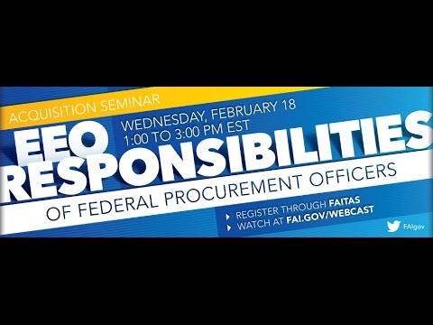 Equal Employment Opportunity Responsibilities in Procurement