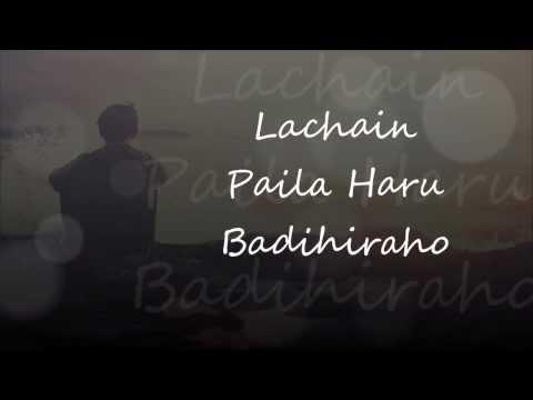 Adrian Pradhan - Sishir Jhai Ritto (Lyrics Video)