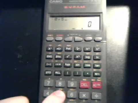 Calcular Coeficiente de correlacion en Casio fx-82TL