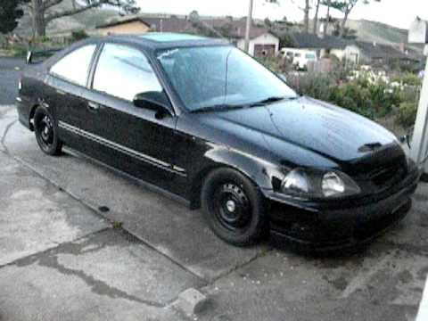 Honda Ej8 For Sale 97 HONDA CIVIC EX WITH APEXI WS2 FULL EXHAUST - YouTube