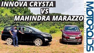 Mahindra Marazzo Vs Toyota Innova Crysta | A Worthy Rival | Motoroids
