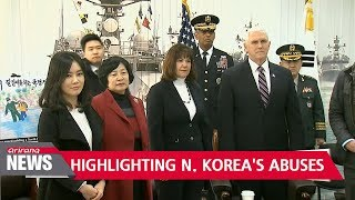 Pence meets defectors to hear stories of North Korea's brutality