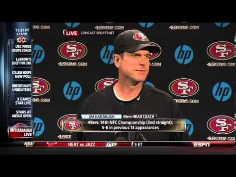 Jim Harbaugh doesn't have time for questions about Robert Griffin III and Stanford