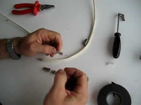 C mo empalmar cables coaxiales de se al de tv youtube for Cambiar instalacion electrica sin rozas