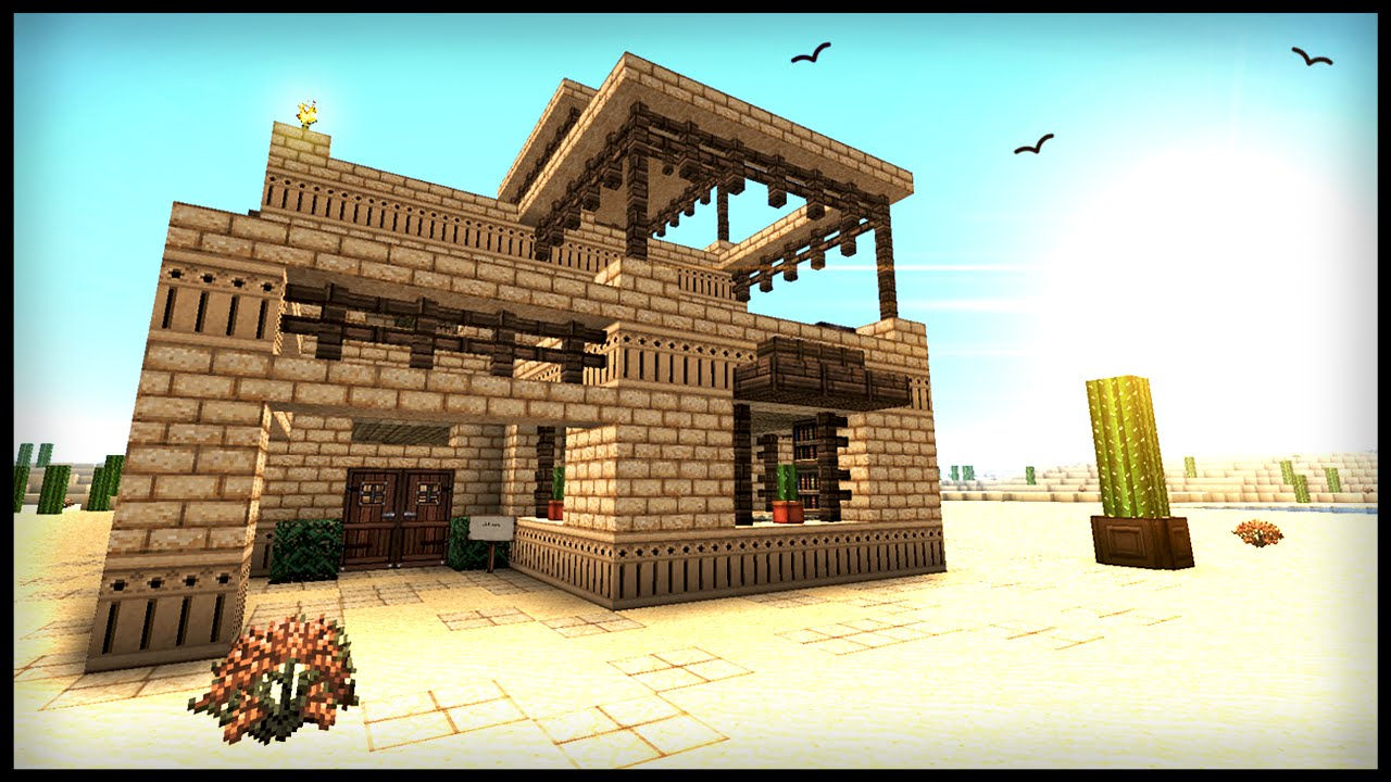 How to build a middle eastern desert house minecraft for Houses to build