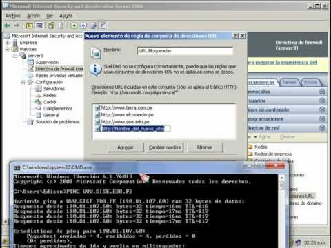 Filtrado de Usuarios y Direcciones Web en ISA Server 2006.avi