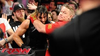 John Cena and Dean Ambrose get their hands on Seth Rollins: Raw, Oct. 6, 2014