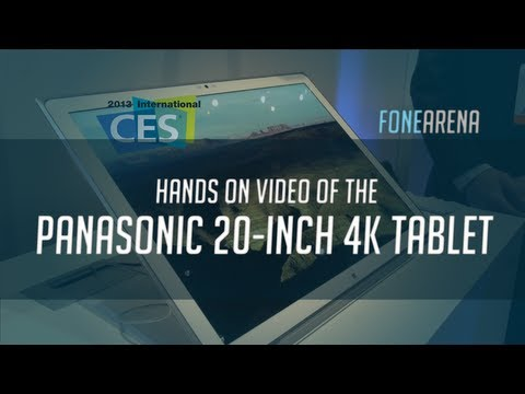 Panasonic 20-Inch 4K Windows 8 Tablet Hands On
