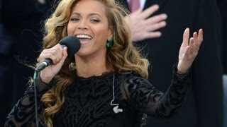 Beyonce Caught Lip Syncing National Anthem at Inauguration