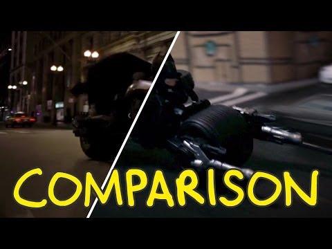 The Dark Knight's Joker Truck Flip - Homemade Side By Side Comparison video