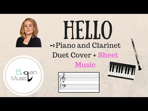 Hello  Adele Piano + Clarinet Sheet Music