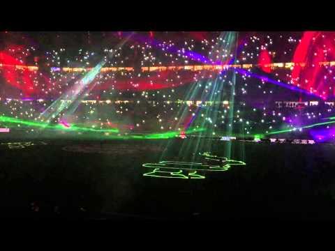 Lasershow Allianz Arena 16.12.2015 FC Bayern vs SC Freiburg