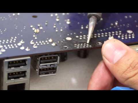 Como Arreglar el VGA de una motherboard