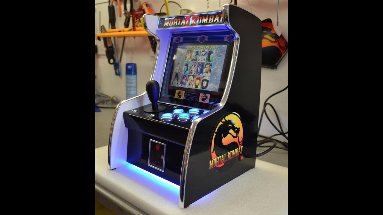 mini mortal kombat arcade machine
