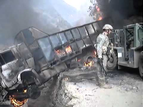 Wreck crew in Afghanistan.7 supply trucks destroyed in Waygal, kunar province.