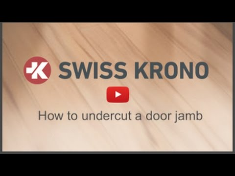 How to Undercut a Door Jamb When Installing Laminate Floors