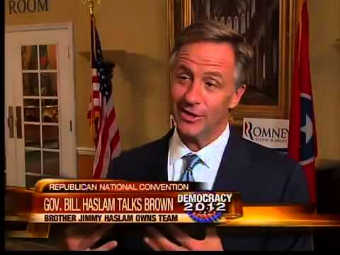Tennessee Gov. Bill Haslam talks Browns