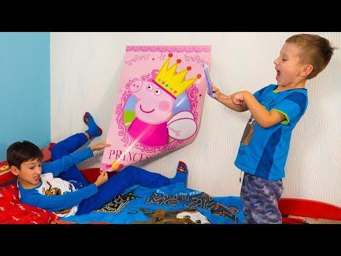 Кто НАКЛЕИЛ НЕ ТОТ Постер? Для Детей Kids Children