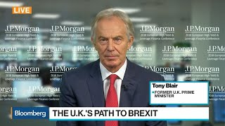 Ex-U.K. PM Blair Says No-Deal Brexit Possible, but Unlikely