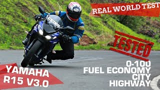 Yamaha YZF-R15 version 3.0   0-100, Performance, City, Highway - TESTED!   ZigWheels.com
