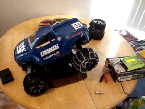 0 Traxxas stampede vxl snow chains ( Rustler )