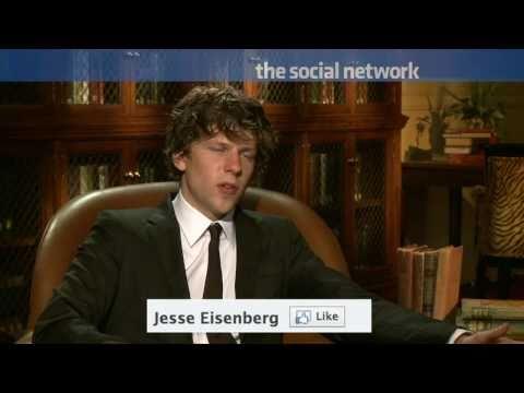 Jesse Eisenberg plays Mark Zuckerberg in The Social Network.