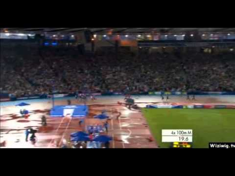 Usain Bolt - 4x100m Final - Commonwealth Record - 37.58