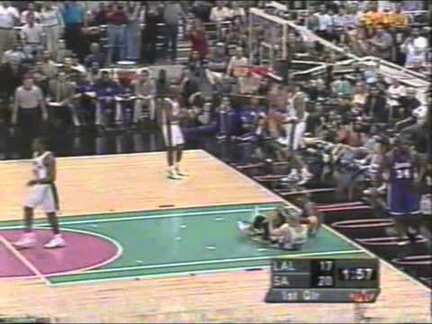 Tim Duncan 2001 Playoffs: 40pts, Gm 2 vs. LA Lakers