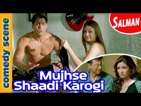 Salman Khan Comedy Scene |   Mujhse Shadi Karogi | Comedy Premier League | Indian Comedy