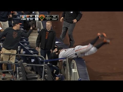 Panda makes great effort on ball, falls over
