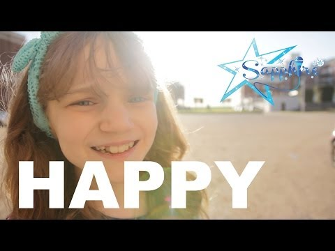 Pharrell Williams - Happy - Despicable Me 2 Movie - 11 Year Old Sapphire Official Cover - video