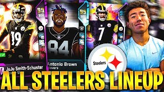 ALL TIME PITTSBURGH STEELERS TEAM! Madden 19 Ultimate Team