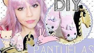 DIY: Pantuflas Conejito ♥ Kawaii slippers