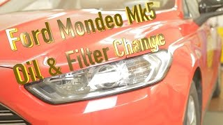 Ford Mondeo mk5 2 litre tdci oil & filter change