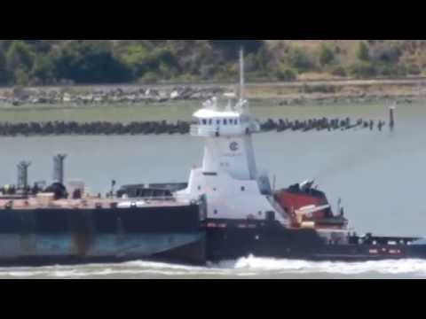 Gulf Reliance transiting Carquinez Straits pushing her tank barge