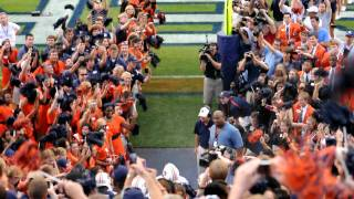 Auburn Tigers walk out of tunnel at the AU vs Clemson game 2010